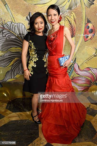 Designer Guo Pei and ChiuTi Jansen attend the MAC x Guo Pei dinner on May 5 2015 in New York City