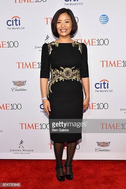 Designer Guo Pei attends 2016 Time 100 Gala Time's Most Influential People In The World at Jazz At Lincoln Center at the Times Warner Center on April...