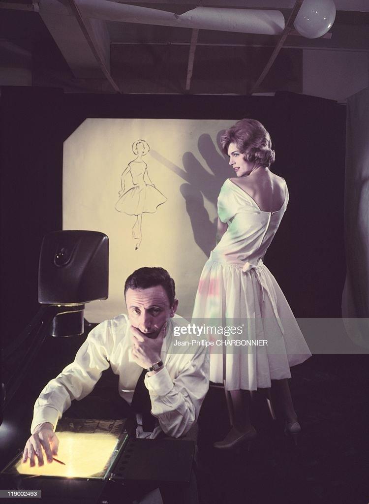 Designer Guy Laroche In His Studio, In The 1960's.