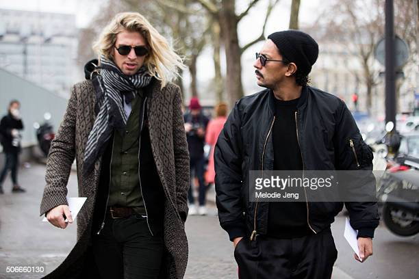 Designer Haider Ackermann at the Lanvin show on January 24 2016 in Paris France