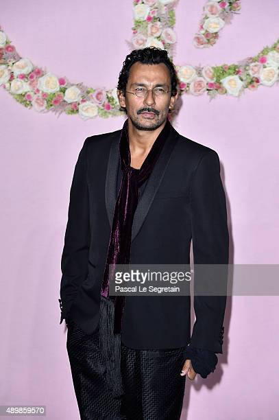 Designer Haider Ackermann attends a photocall during The Ballet National de Paris Opening Season Gala at Opera Garnier on September 24 2015 in Paris...