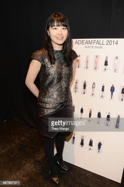 Designer Hanako Maeda poses backstage at the Adeam fashion show during MercedesBenz Fashion Week Fall 2014 at The Pavilion at Lincoln Center on...