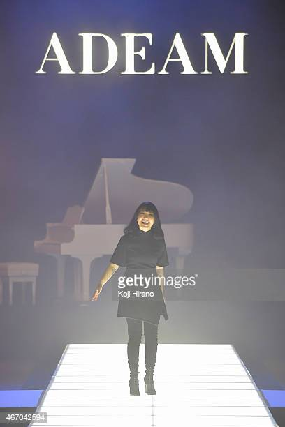 Designer Hanako Maeda walks the runway during the ADEAM show as part of Mercedes Benz Fashion Week TOKYO 2015 A/W at the Tokyo Midtown on March 20...