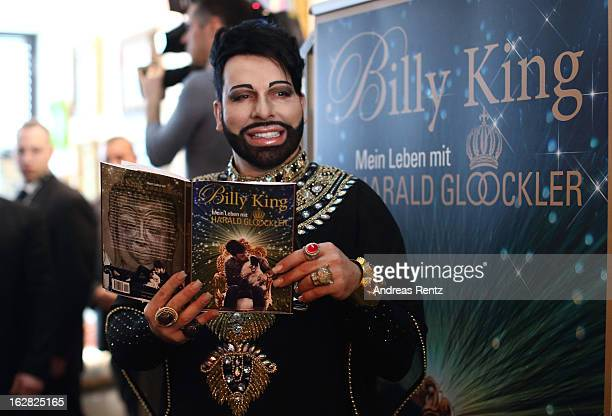 Designer Harald Gloeoeckler presents the book 'Billy King Mein Leben mit Harald Gloeoeckler' on February 28 2013 in Berlin Germany