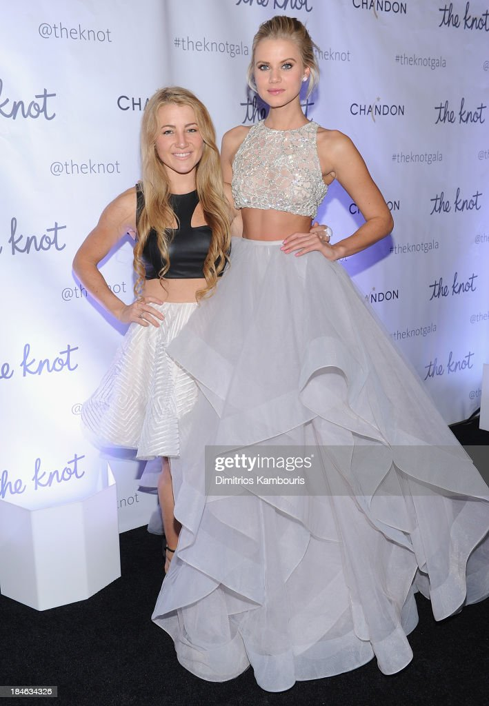 Designer Hayley Paige (L) attends the Knot Gala 2013 at New York Public Library - Astor Hall on October 14, 2013 in New York City.