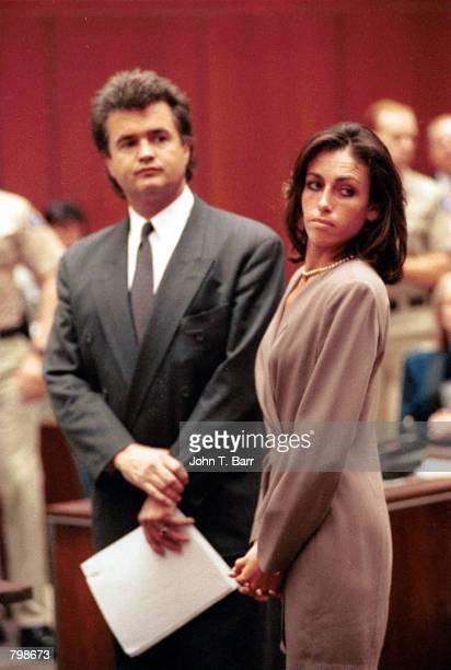 Designer Heidi Fleiss stands in court August 11 1993 in Los Angeles CA A Los Angeles judge gave 'Hollywood madam' Heidi Fleiss 37 months jail time...