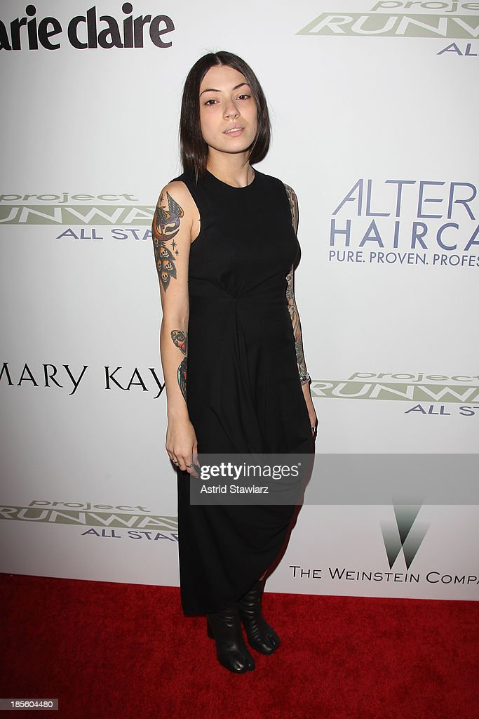 Designer Helen Castillo attends the Project Runway All Stars Season 3 premiere party presented by The Weinstein Company and Lifetime in partnership with Marie Claire, QVC, Mary Kay and Alterna Haircare at Hudson Common at the Hudson Hotel on October 22, 2013 in New York City.