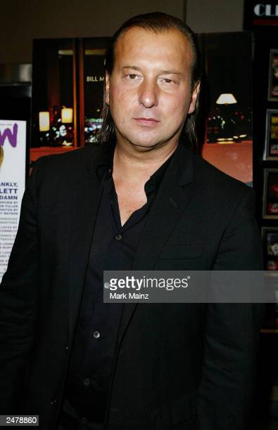 Designer Helmut Lang arrives for the premiere of 'Lost In Translation' at the Chelsea West Theatre September 9 2003 in New York City