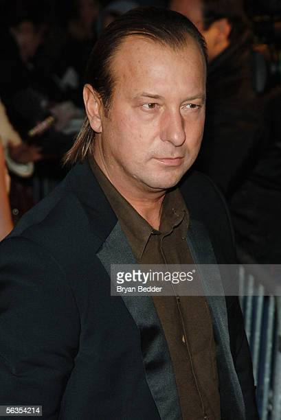 Designer Helmut Lang attends the Focus Features Premiere of 'Brokeback Mountain' at the Loews Theater on December 6 2005 in New York City
