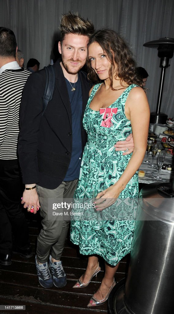 Designer Henry Holland and fashion designer and founder of the Fashion East Initiative Lulu Kennedy attends a tea party in celebration of Lulu's...