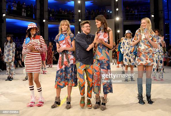 Designer Henry Holland on the runway at the House of Holland show during London Fashion Week Spring/Summer 2016 on September 19 2015 in London England