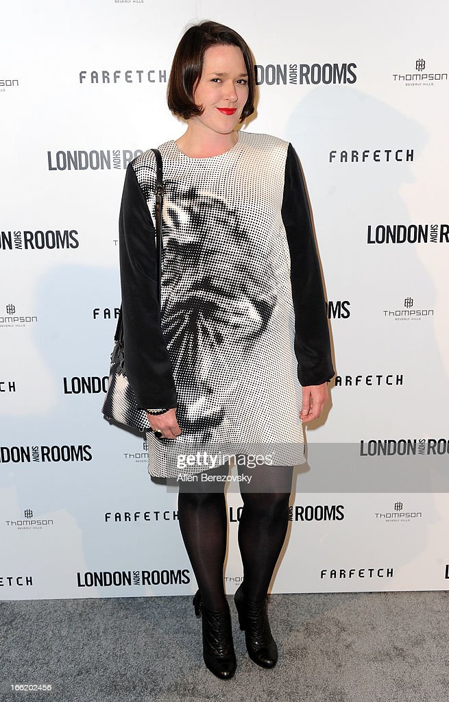Designer Holly Fulton attends the British Fashion Council's International Showcasing Initiative 'London Show Rooms LA' at Thompson Hotel on April 9, 2013 in Beverly Hills, California.