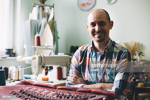 Designer in his atelier
