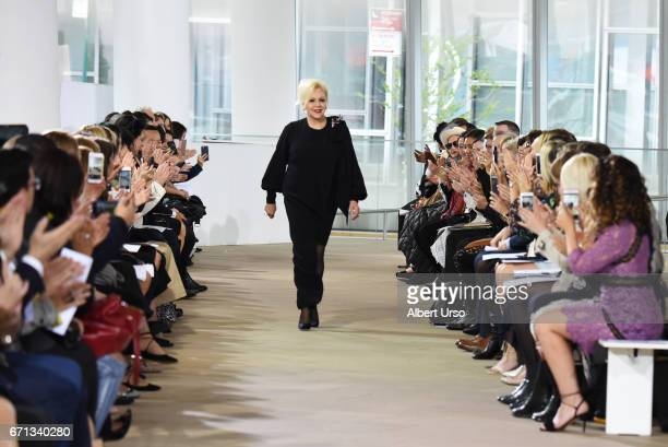 Designer Ines Di Santo walks the runway at the Ines Di Santo show during New York Fashion Week Bridal at The IAC Building on April 21 2017 in New...
