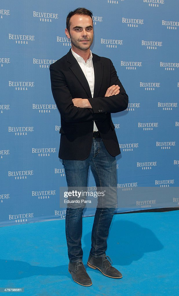 Designer Ion Fiz attends Belvedere Vodka party photocall at Principe Pio train station on March 20, 2014 in Madrid, Spain.