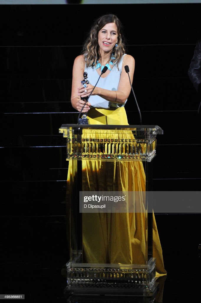 Designer <a gi-track='captionPersonalityLinkClicked' href=/galleries/search?phrase=Irene+Neuwirth+-+Fashion+Designer&family=editorial&specificpeople=10970253 ng-click='$event.stopPropagation()'>Irene Neuwirth</a> speaks onstage at the 2014 CFDA fashion awards at Alice Tully Hall, Lincoln Center on June 2, 2014 in New York City.