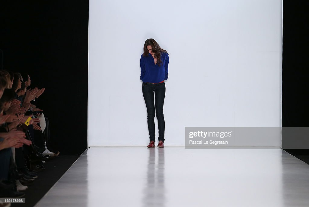 Designer Irina Boytik on the runway after BOIT SIK at Belarus Fashion Week Collective Show during Mercedes-Benz Fashion Week Russia Fall/Winter 2013/2014 at Manege on April 1, 2013 in Moscow, Russia.