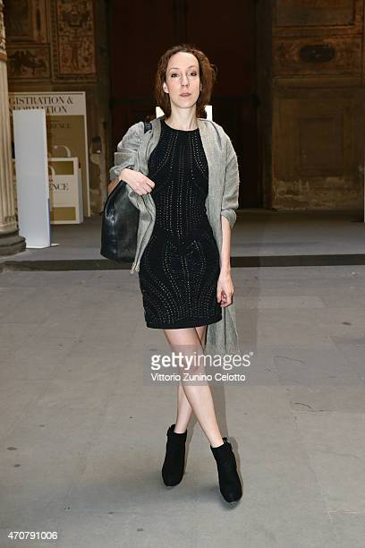 Designer Iris Van Herpen attends the Conde' Nast International Luxury Conference at Palazzo Vecchio on April 23 2015 in Florence Italy