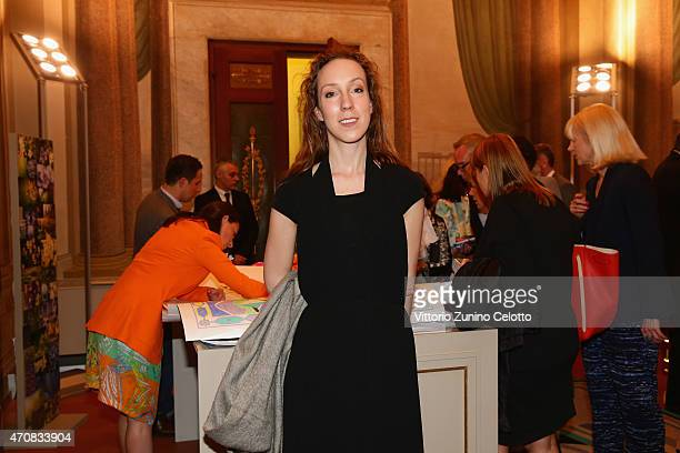 Designer Iris van Herpen attends the Conde' Nast International Luxury Conference Closing Cocktail Reception hosted by Emilio Pucci at Palazzo Pucci...