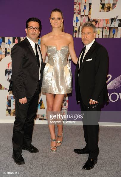 Designer Isaac Franco model Constance Jablonski and designer Ken Kaufman attend the 2010 CFDA Fashion Awards at Alice Tully Hall at Lincoln Center on...