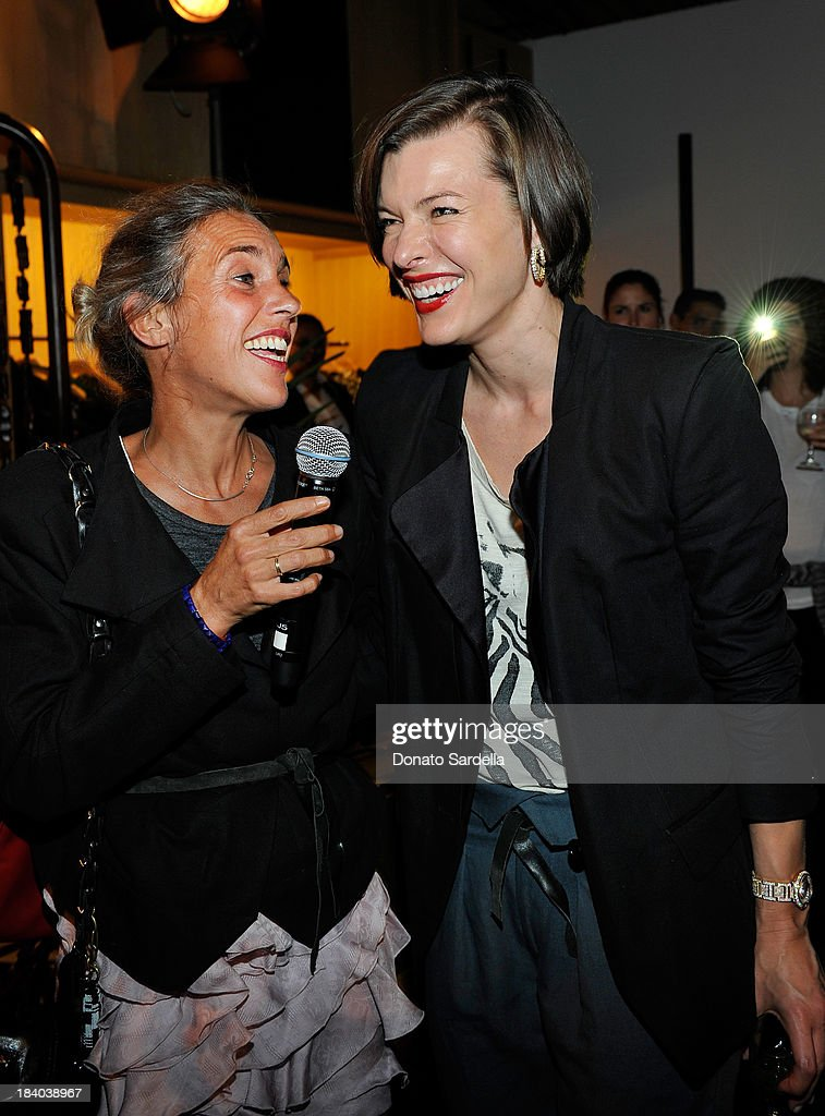 Designer Isabel Marant and actress <a gi-track='captionPersonalityLinkClicked' href=/galleries/search?phrase=Milla+Jovovich&family=editorial&specificpeople=202207 ng-click='$event.stopPropagation()'>Milla Jovovich</a> attend Isabel Marant & <a gi-track='captionPersonalityLinkClicked' href=/galleries/search?phrase=Milla+Jovovich&family=editorial&specificpeople=202207 ng-click='$event.stopPropagation()'>Milla Jovovich</a> BBQ party to celebrate the 1st Year of he LA Shop at Isabel Marant on October 10, 2013 in Los Angeles, California.