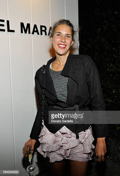 Designer Isabel Marant attends Isabel Marant Milla Jovovich BBQ party to celebrate the 1st Year of he LA Shop at Isabel Marant on October 10 2013 in...