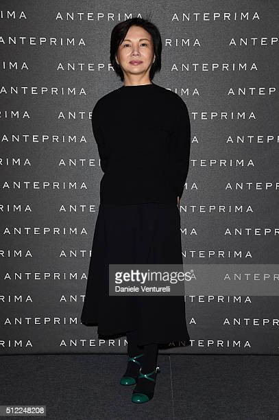 Designer Izumi Ogino attends the Anteprima show during Milan Fashion Week Fall/Winter 2016/17 on February 25 2016 in Milan Italy