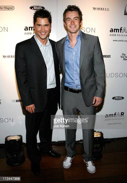 Designer Jack Mackenroth and actor Robert Buckley attend the 9th Annual amfAR Honoring With Pride Celebration at the Hudson on June 9 2008 in New...