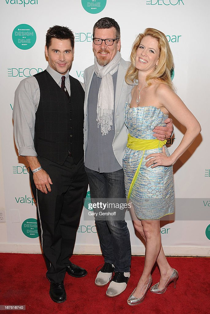 Designer Jack Mackenroth and TV personalities Simon van Kempen and Alex McCord attend Housing Works 9th Annual Design On A Dime Benefit at Metropolitan Pavilion on April 25, 2013 in New York City.