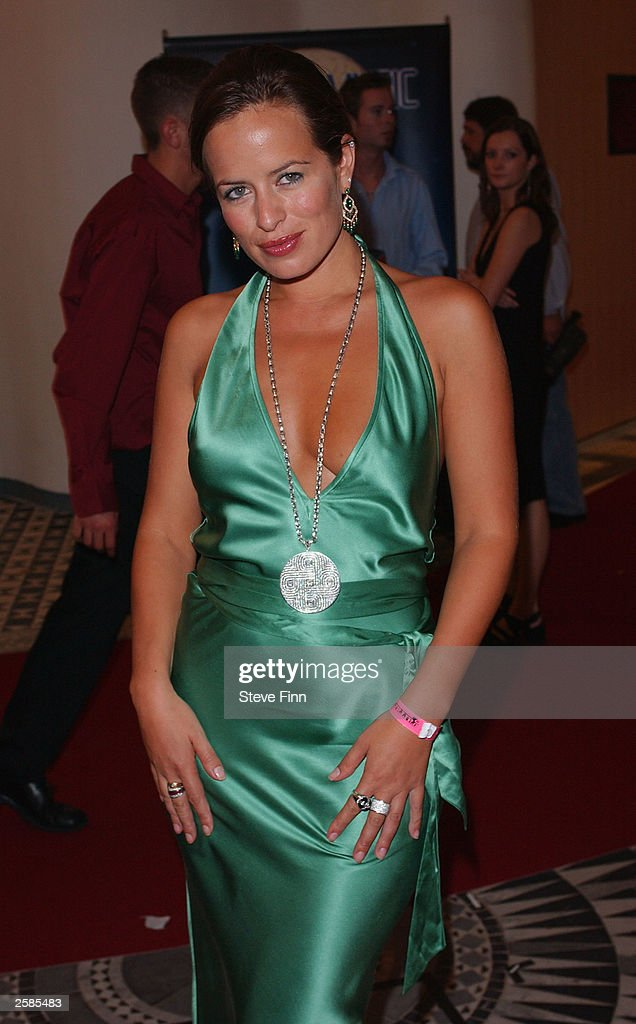 Designer Jade Jagger poses backstage at 'The World Music Awards'in The Sporting Club, on October 12 2003 in Monte Carlo, France.