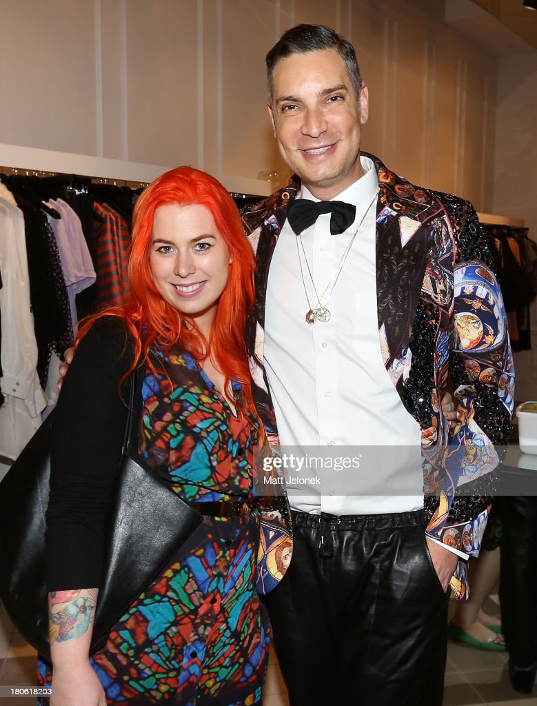 Designer Jaime Lee and Cameron SIlver attend the launch of <a gi-track='captionPersonalityLinkClicked' href=/galleries/search?phrase=Cameron+Silver&family=editorial&specificpeople=546426 ng-click='$event.stopPropagation()'>Cameron Silver</a>'s book 'Decades: A Century of Fashion' during Perth Fashion Festival on September 15, 2013 in Perth, Australia.