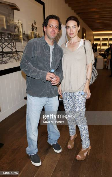 Designer James Perse and Claire Forlani attend as James Perse launch their first European store in Notting Hill on May 31 2012 in London England