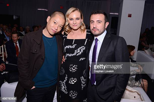 Designer Jason Wu actress Diane Kruger and Gustavo Rangel attend the premiere of SHOWTIME drama 'The Affair' held at North River Lobster Company on...