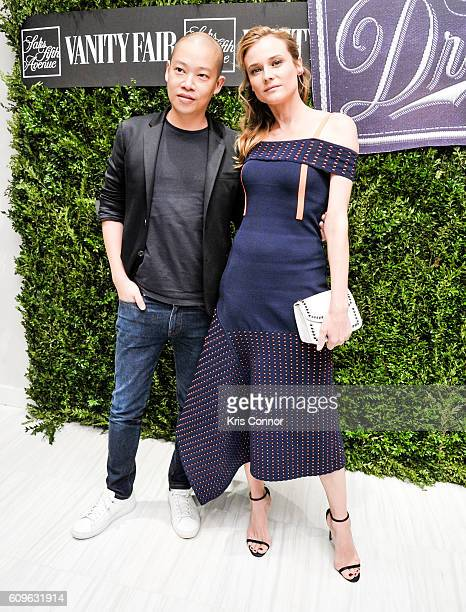 Designer Jason Wu and actress Diane Kruger attend the 'Saks Fifth Avenue Hosts Vanity Fair International Best Dress List ' event at Saks Fifth Avenue...