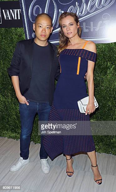 Designer Jason Wu and actress Diane Kruger attends the 2016 Vanity Fair International Best Dressed List at Saks Fifth Avenue on September 21 2016 in...