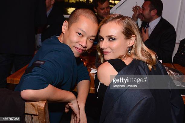 Designer Jason Wu and actress Diane Kruger attends the premiere of SHOWTIME drama 'The Affair' held at North River Lobster Company on October 6 2014...