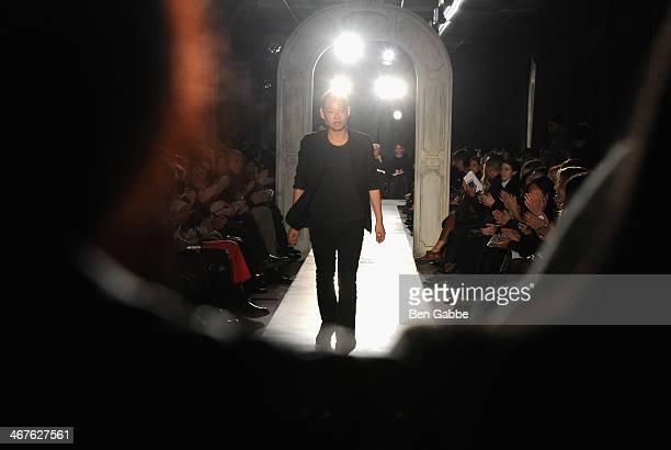 Designer Jason Wu attends Jason Wu fashion show during MercedesBenz Fashion Week Fall 2014 on February 7 2014 in New York City