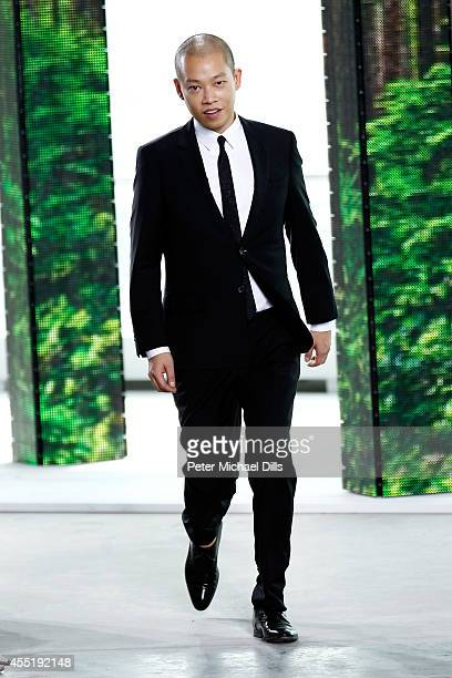 Designer Jason Wu walks the runway at the Boss fashion show during MercedesBenz Fashion Week Spring on September 10 2014 in New York City