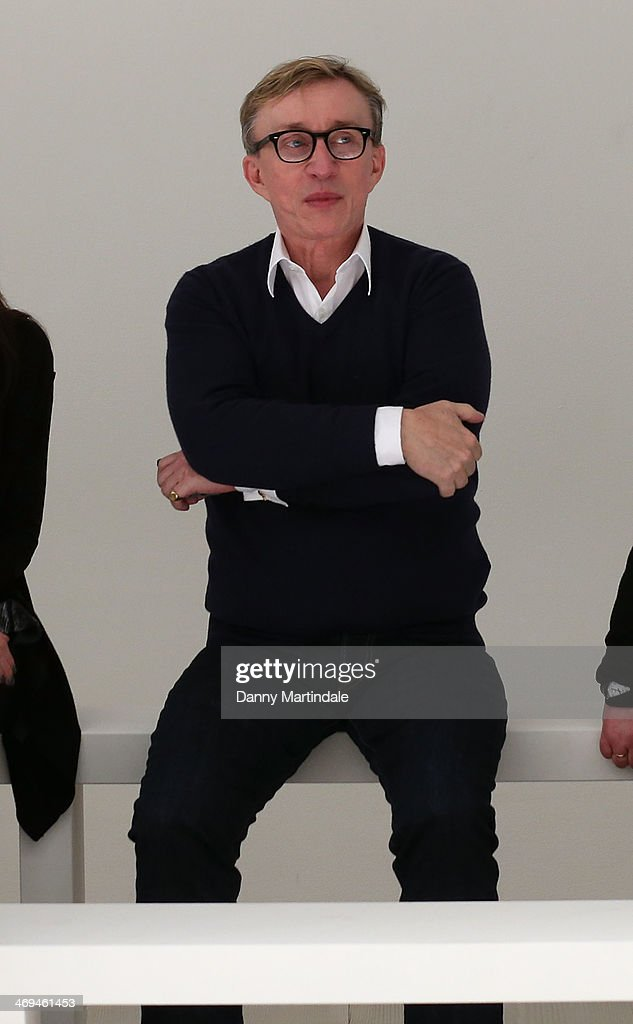 Designer Jasper Conran watches the run through of the Jasper Conran show at London Fashion Week AW14 at on February 15, 2014 in London, England.
