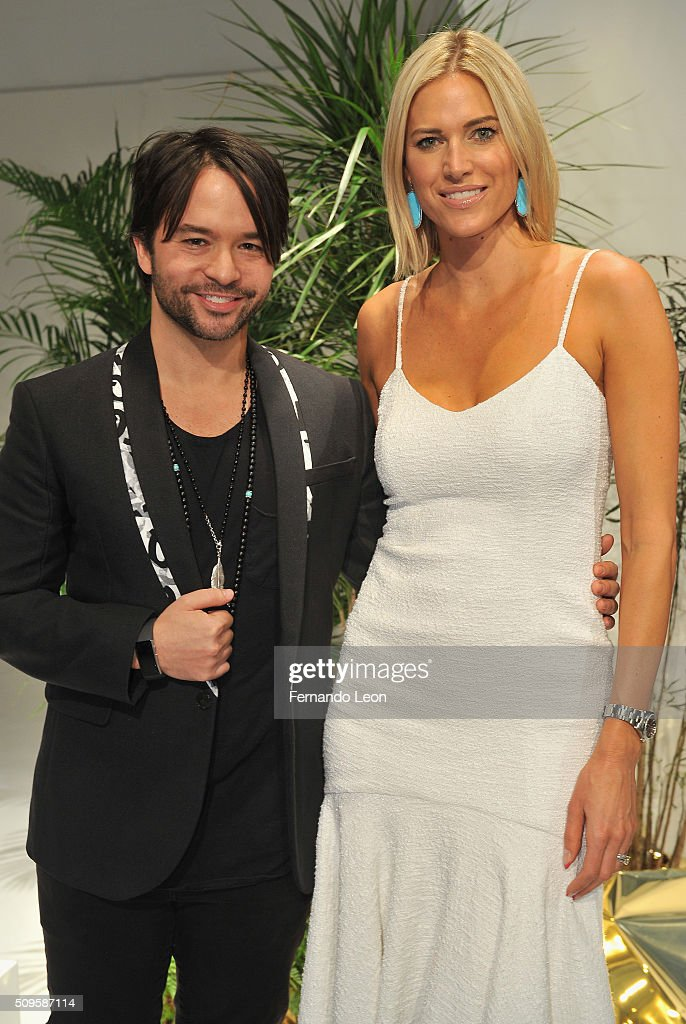 Designer Jay Godfrey (L) and model <a gi-track='captionPersonalityLinkClicked' href=/galleries/search?phrase=Kristen+Taekman&family=editorial&specificpeople=11046735 ng-click='$event.stopPropagation()'>Kristen Taekman</a> attend Jay Godfrey Fall 2016 presentation during New York Fashion Week: The Shows at The Space, Skylight at Clarkson Square on February 11, 2016 in New York City.