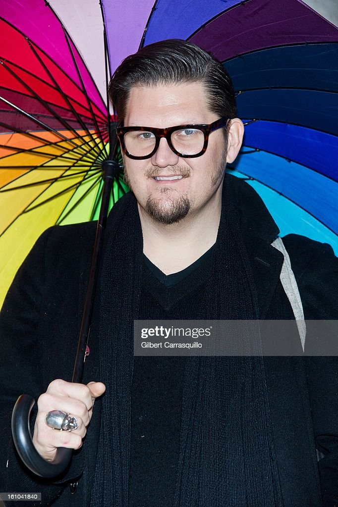 Designer Jay McCarroll attends the Fall 2013 Mercedes-Benz Fashion Show at The Theater at Lincoln Center on February 8, 2013 in New York City.