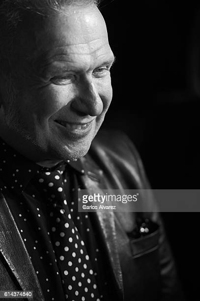 Designer Jean Paul Gaultier attends the 'Icon' awards 2016 at the French Embassy on October 13 2016 in Madrid Spain