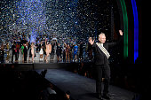 Designer Jean Paul Gaultier on the runway at the Jean Paul Gaultier Spring Summer 2015 fashion show during Paris Fashion Week on September 27 2014 in...