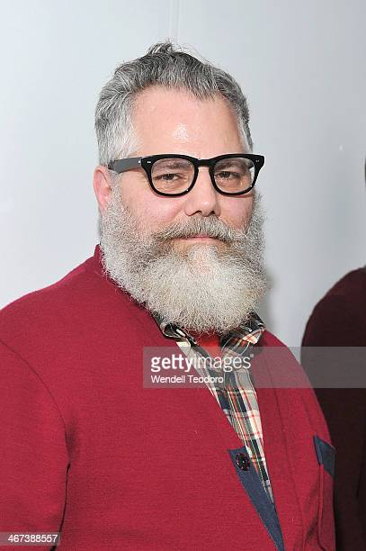 Designer Jeffrey Costello attends the Costello Tagliapietra show during MADE Fashion Week Fall 2014 at Milk Studios on February 6 2014 in New York...
