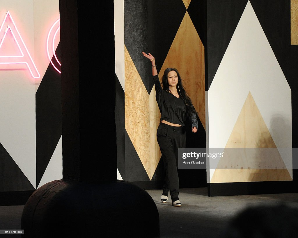 Designer <a gi-track='captionPersonalityLinkClicked' href=/galleries/search?phrase=Jen+Kao&family=editorial&specificpeople=4484434 ng-click='$event.stopPropagation()'>Jen Kao</a> attends the <a gi-track='captionPersonalityLinkClicked' href=/galleries/search?phrase=Jen+Kao&family=editorial&specificpeople=4484434 ng-click='$event.stopPropagation()'>Jen Kao</a> fall 2013 fashion show during Mercedes-Benz Fashion Week at Skylight Studios at Moynihan Station on February 9, 2013 in New York City.