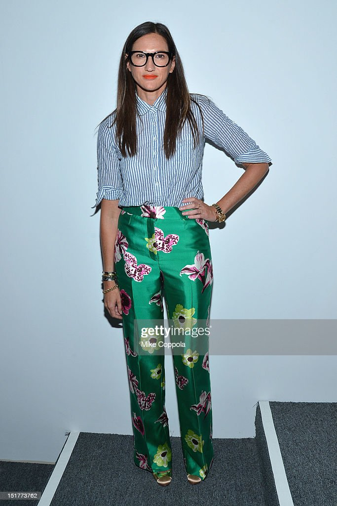 Designer Jenna Lyons poses at the J.Crew Presentation during the Spring 2013 Mercedes-Benz Fashion Week at The Studio at Lincoln Center on September 11, 2012 in New York City.