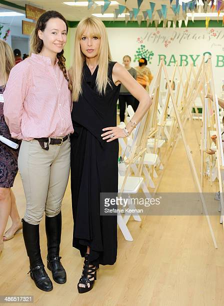 Designer Jenni Kayne and stylist Rachel Zoe attend Baby2Baby Mother's Day Party presented by Tiny Prints at Baby2Baby Headquarters on April 24 2014...