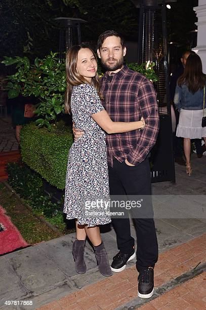 Designer Jennifer Meyer and actor Tobey Maguire attend Barneys New York Jennifer Aniston and Tobey Maguire host a private dinner to celebrate The...