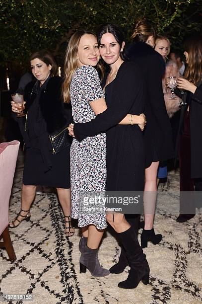 Designer Jennifer Meyer and actress Courteney Cox attend Barneys New York Jennifer Aniston and Tobey Maguire host a private dinner to celebrate The...