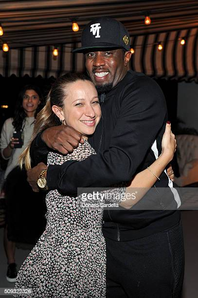 Designer Jennifer Meyer and rapper Sean 'Puffy' Combs attend the Superga XO Jennifer Meyer Collection Launch Celebration at Chateau Marmont on...